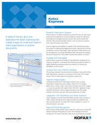 Kofax Express Workgroup + 1 yr KX-WS00-0001 Leaflet