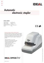 Ideal Electric stapler IDEAL 8550 8550 Leaflet