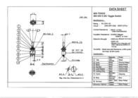 Miyama MS 500-BC-E 6A Miniature Toggle Switch, , MS 500-BC-E Data Sheet