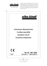 Efbe-Schott SC WK 1020 R Data Sheet