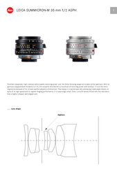 Leica Summicron-M 35 mm f/2 11882 User Manual