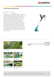 Gardena EasyCut 400 8846-22 Leaflet