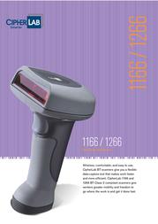 CipherLab 1166 BT Scanner 1166 User Manual