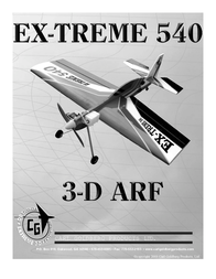 Carl Ex-treme 3-D ARF 540 User Manual