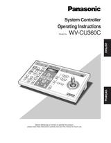 Panasonic WV-CU360C User Manual