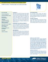 Allied Telesis Adapter ENetPCI ST ACPI + F+ENet UTP AT-2450FTX/ST Leaflet
