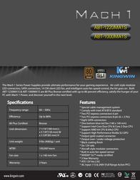 Kingwin Mach 1 ABT-1220MA1S Leaflet