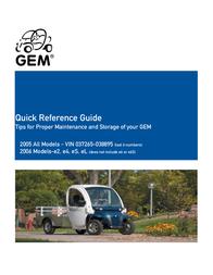 GEM - Global Electric Motorcars Automobile 2005 User Manual