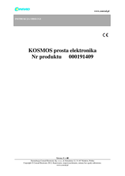 Kosmos Science kit 613013 8 years and over 613013 User Manual