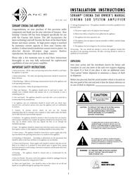 Sonance CINEMA 260 Installation Instruction