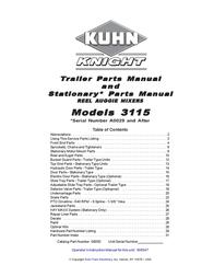 KUHN RIKON Kuhn Rikon Corp. Utility Trailer 3115 User Manual