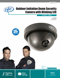 Svat Imitation Dome Security Camera ISC302 Leaflet