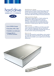 LaCie Hard Drive, Design by F.A. Porsche 250GB - FireWire 400 300703EK Leaflet