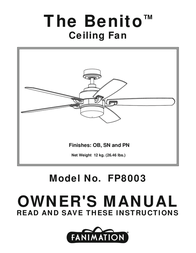Fanimation FP8003 User Manual