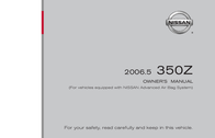 Nissan 2006.5 360Z Z33-D User Manual