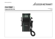 Gossen Metrawatt PROFITEST 2 Profitest 2 Data Sheet