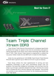 Team Group Xtreem Ram TXD36144M1866HC9TC Leaflet
