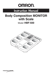 Omron Healthcare HBF-500 User Manual