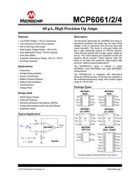 Microchip Technology MCP6062-E/SN Linear IC SOIC-8 MCP6062-E/SN Data Sheet
