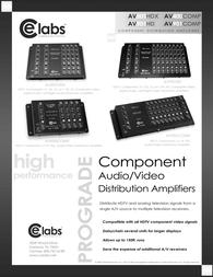 CE labs av400comp Specification Guide