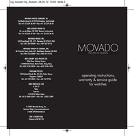 Movado 0604229 User Guide