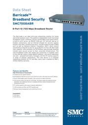 SMC Barricade™ 8-port Broadband Router SMC7008ABR EU V.2 SMC7008ABREU Data Sheet