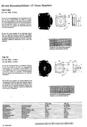 Visaton VS-TW6NG/8 1000 Data Sheet