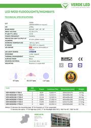 Verde LED VER-MOD150-F-750-B Leaflet