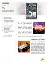 Behringer Xenyx 502 Product Datasheet