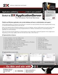 2X ApplicationServer f/ Windows Terminal Services, 1 Server ASSMB Leaflet