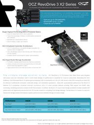 OCZ Storage Solutions RevoDrive 3 X2 RVD3X2-FHPX4-960G User Manual