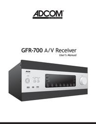 Adcom GFR-700 User Manual