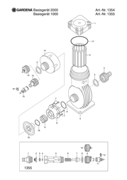 Gardena Micro Drip Master Unit 2000 1354-20 Leaflet