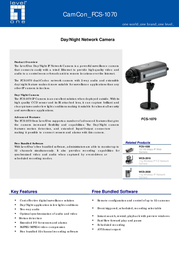 CP Technologies Day/Night IP Network Camera FCS-1070 Leaflet