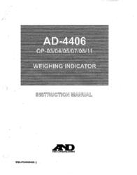 A&D SONAR AD-4406 User Manual
