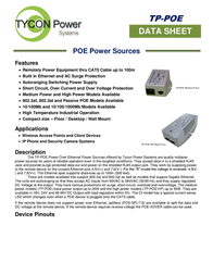 Tycon Systems TP-POE-48GD Data Sheet