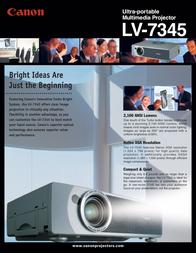Canon LV-7345 XGA 7401A001 Leaflet