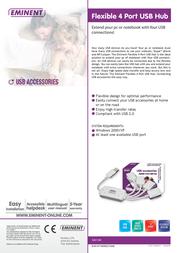 Eminent Flexible 4 Port USB Hub EM1100 Leaflet
