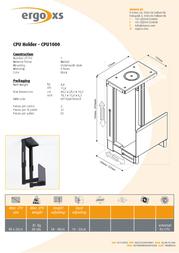 ErgoXS CPU Holder CPU1000 Leaflet