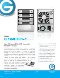 G-Technology 6TB G-Speed eS GSP-ES 35/6TB EMEA Leaflet