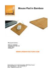 Urban Factory PAD33UF Leaflet
