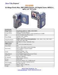 SVP dv-6305 Specification Guide