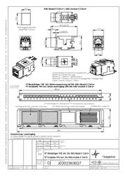 """Telegärtner 19"""" Module Carrier 1 HU incl. 24xAMJ Module K Cat.6A T568A J02023K0027 Leaflet"""