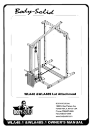 Body Solid LAT-ATTACHMENT WLA48S User Manual