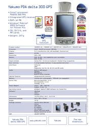 Yakumo Delta 300 GPS 300GPS_F Leaflet