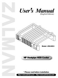 Zalman ZM-2HC2 User Manual