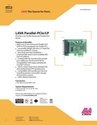 Lava Parallel-PCIe/LP PARALLEL-PCI-E/LP Leaflet