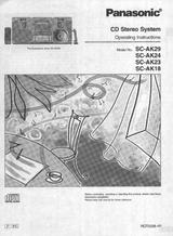 Panasonic SC-AK18 User Manual