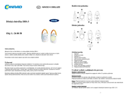 M E Modern Electronics m-e modern-electronics Radio baby-phone DBS 3 10608 Frequency 446 MHz Max. range (open field) 600 m 10608 Data Sheet