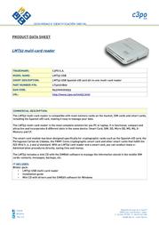 C3PO LMT52 USB LT52U01B00 Product Datasheet